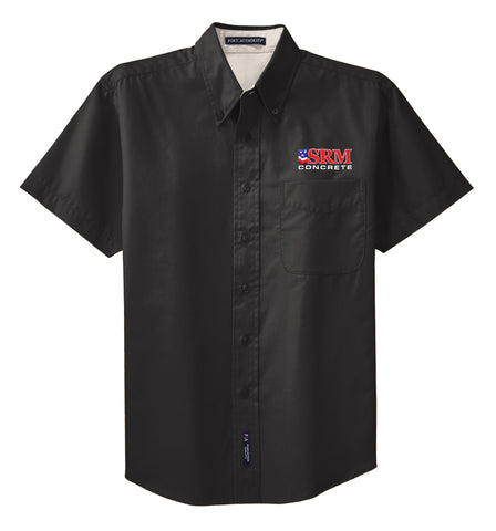 Men's Black Short Sleeve Easy Care Shirt