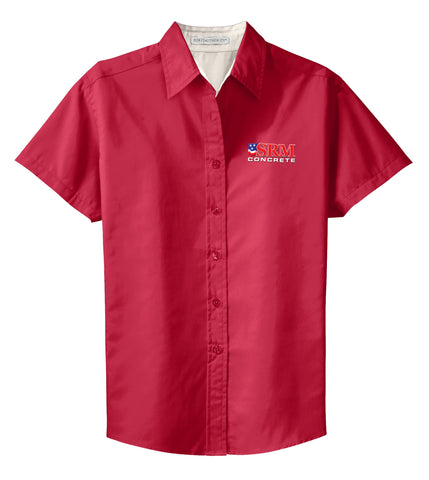 Ladies Red Short Sleeve Easy Care Shirt