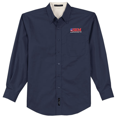 Men's Navy Long Sleeve Easy Care Shirt