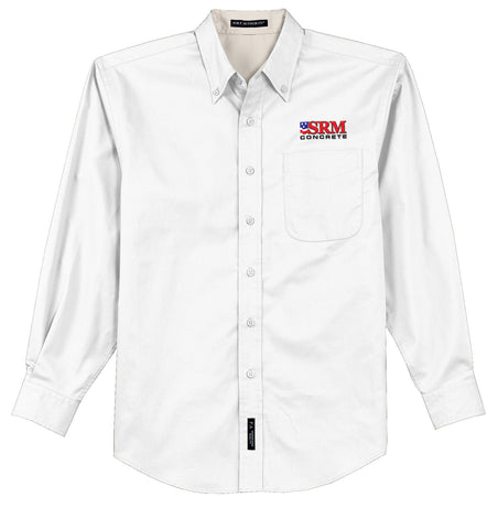Men's White Long Sleeve Easy Care Shirt