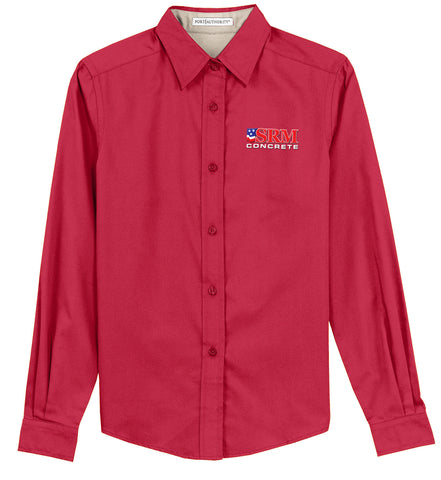 Ladies Red Long Sleeve Easy Care Shirt