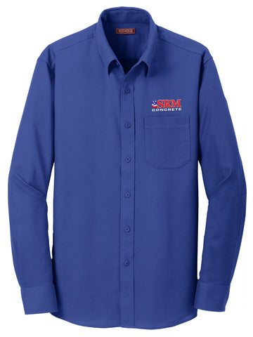 Men's Royal Blue Non-Iron Diamond Dobby Shirt.
