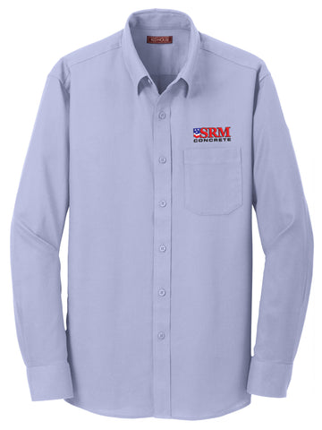 Men's Dress Blue Non-Iron Diamond Dobby Shirt.