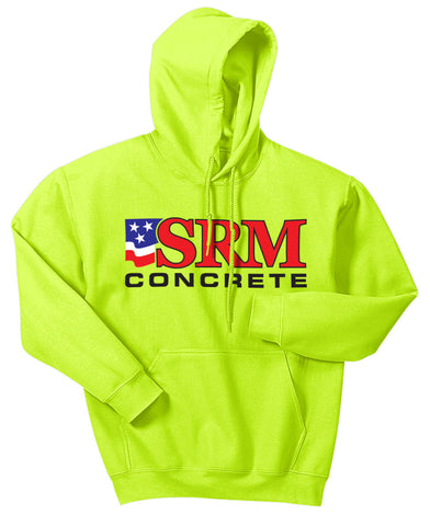 Safety Green Raglan Colorblock Pullover Hooded Sweatshirt