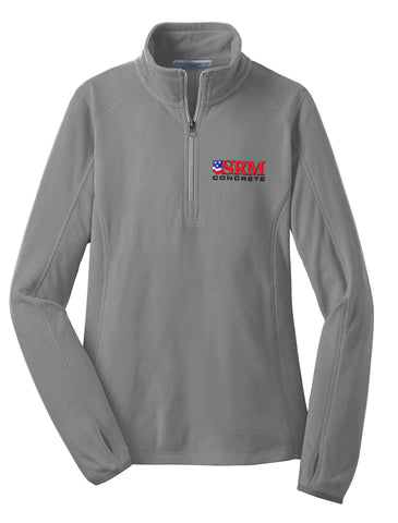Ladies Gray Microfleece 1/2-Zip Pullover
