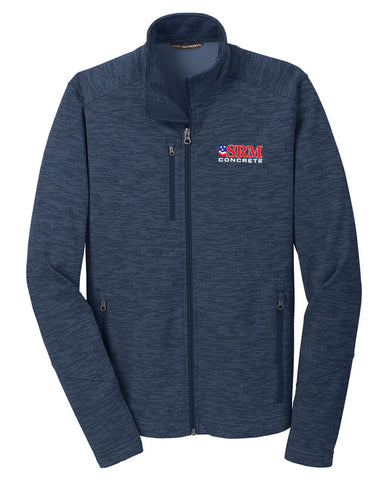 Men's Navy Digi Stripe Fleece Jacket