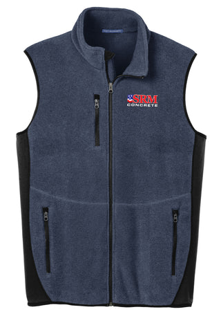 Men's Navy Heather/Black R-Tek® Pro Fleece Full-Zip Vest