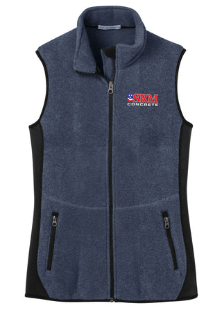 Ladies Navy Heather/Black R-Tek® Pro Fleece Full-Zip Vest
