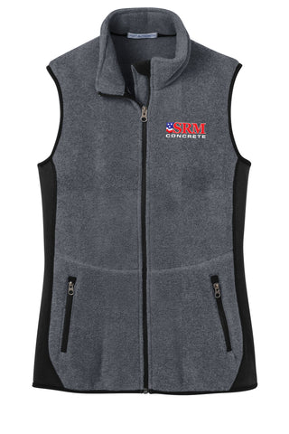 Ladies Gray Heather/Black R-Tek® Pro Fleece Full-Zip Vest