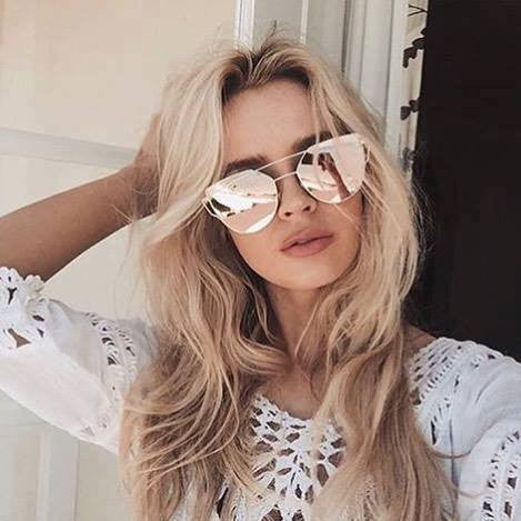 Cat eye style sunglasses