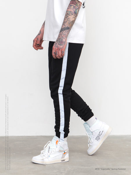 Striped Reflective Joggers Sweatpants