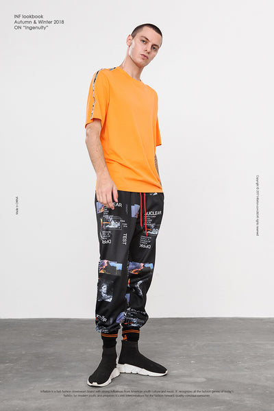 Nuclear Test Harem Graphic Print Sweatpant