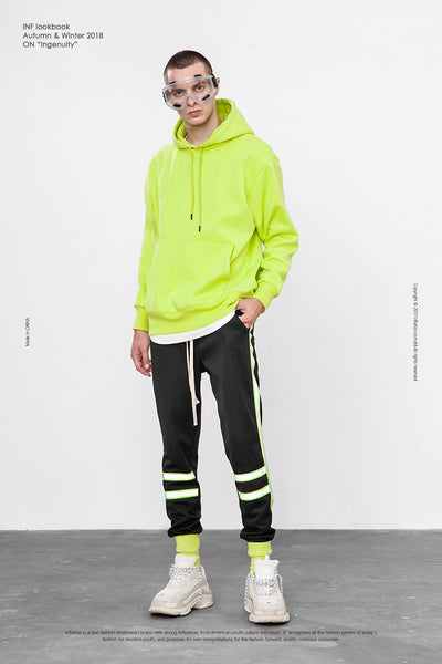 Green Reflective Stripe Fluorescent Sweatpant