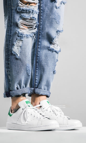 Ankle-Length Light Blue Brand Ripped Jeans