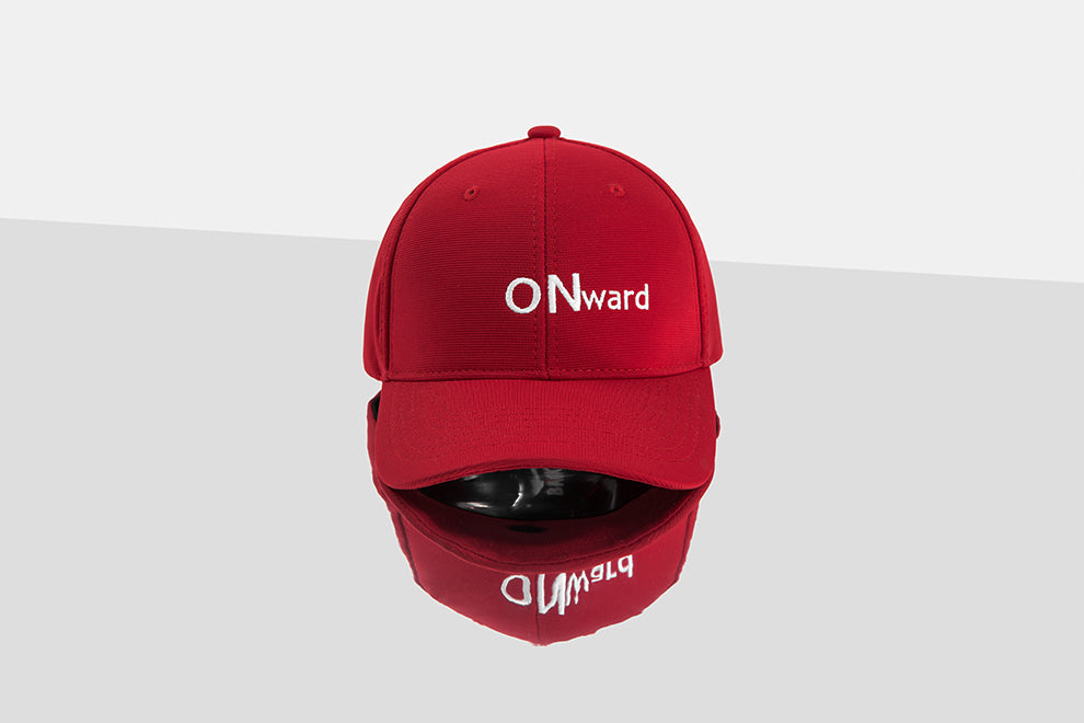 ONward Embroidery Baseball Cap (Red) - simplifybox