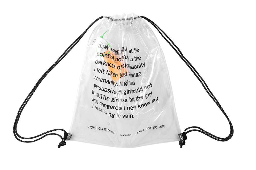 Clear Transparent Letter Drawstring Bag