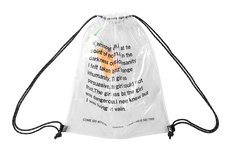 Clear Transparent Letter Drawstring Bag - simplifybox