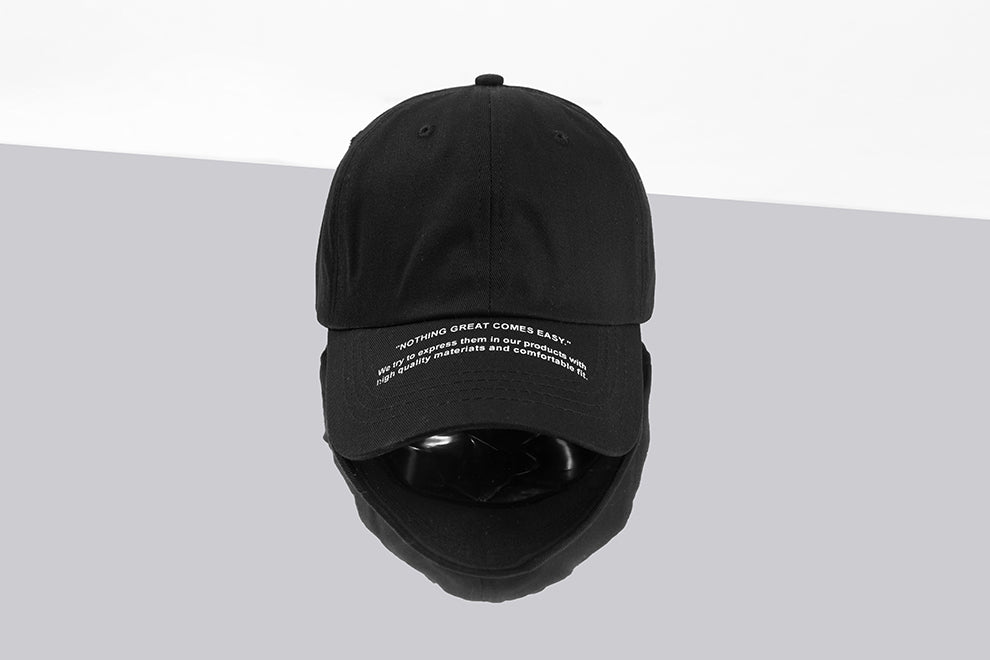 Nothing great comes easy Baseball Cap (ฺBlack) - simplifybox