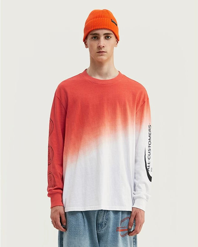 All Customer to Arhv DESIGN Dip Dyed Long Sleeve T-Shirt - simplifybox