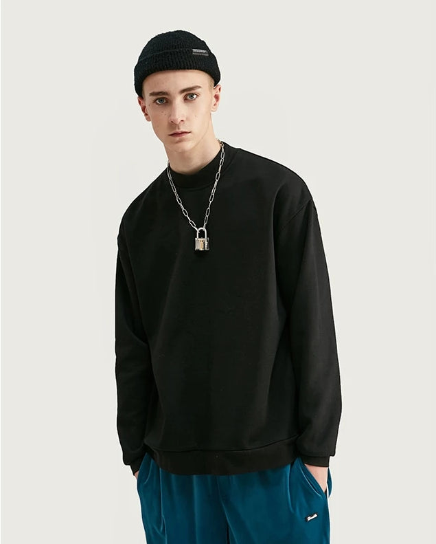 Shop Basic High Neck Oversized Sweatshirt at SIMPLIFYBOX. Find our latest collection of Sweat Shirt at SIMPLIFY BOX