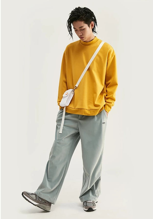 Basic High Neck Oversized Sweatshirt - simplifybox