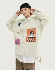 Oversized Fit Graphic Printing Shirt - simplifybox