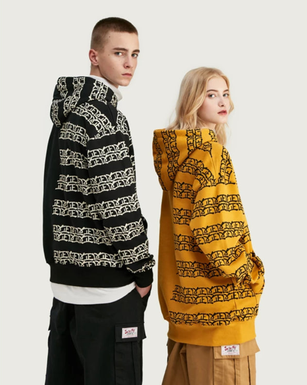 Chinese Design Print Hoodies - simplifybox