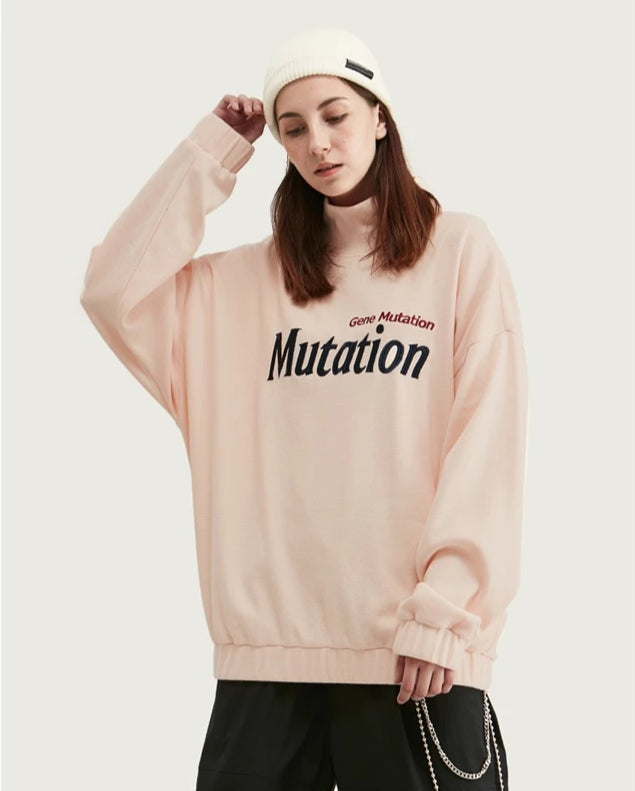 Mutation Vintage Pink High Collar Sweatshirt - simplifybox