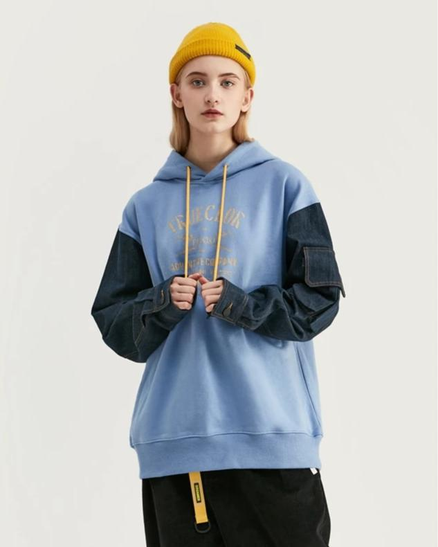True Color Patchwork Hoodies - simplifybox