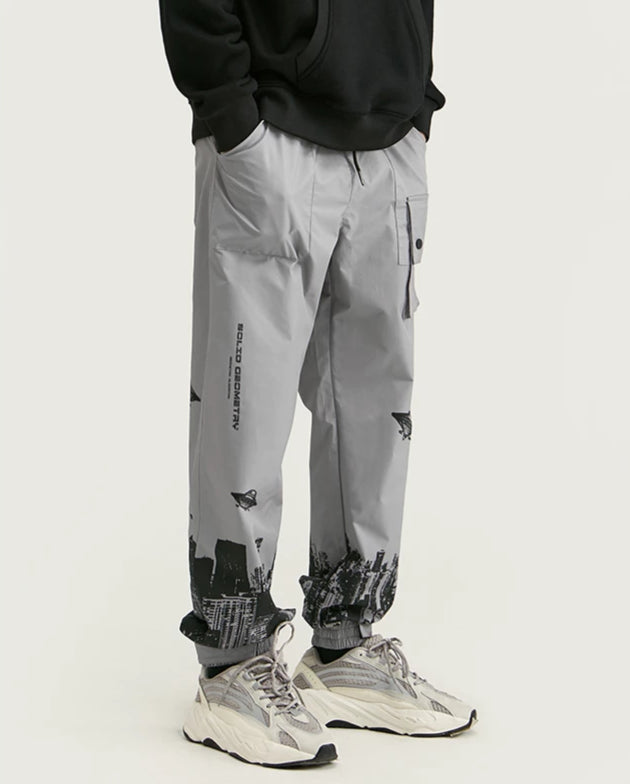 Shop Solid Geometry Digital Print Sweatpants at SIMPLIFYBOX. Find our latest collection of Sweatpants at SIMPLIFY BOX