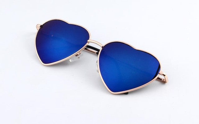 Heart Shaped Gradient Sunglasses - simplifybox