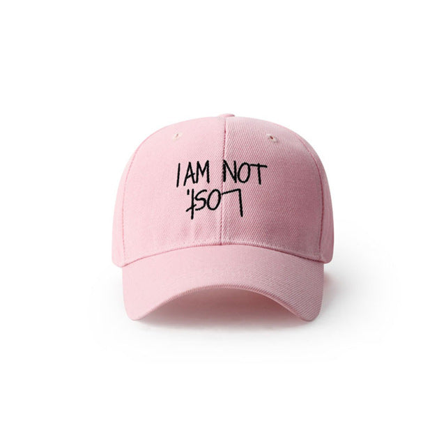 I AM NOT LOST Pink Baseball Cap - simplifybox