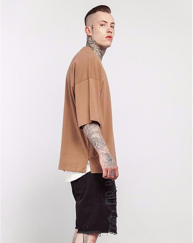 Casual Solid Elbow Length Oversize T-Shirts - simplifybox