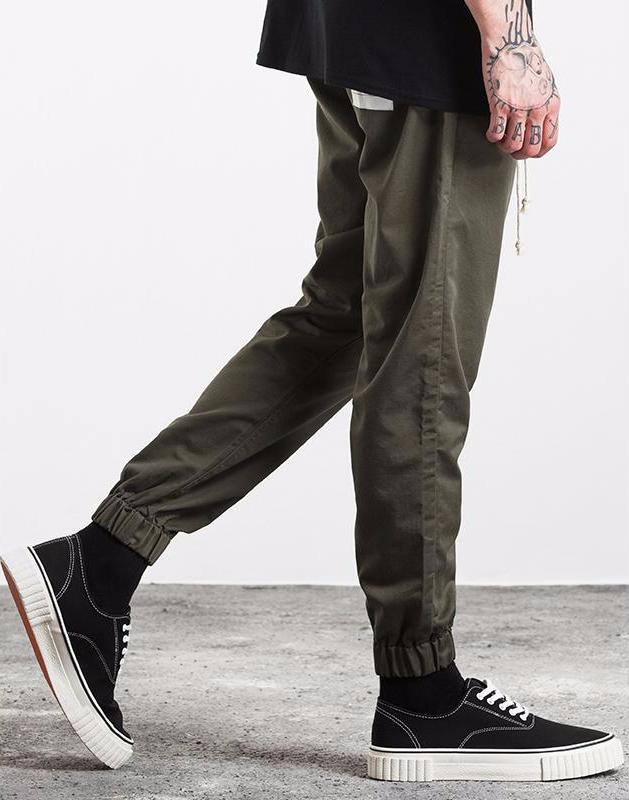 Cargo Ankle-Tied Jogger Pants - simplifybox