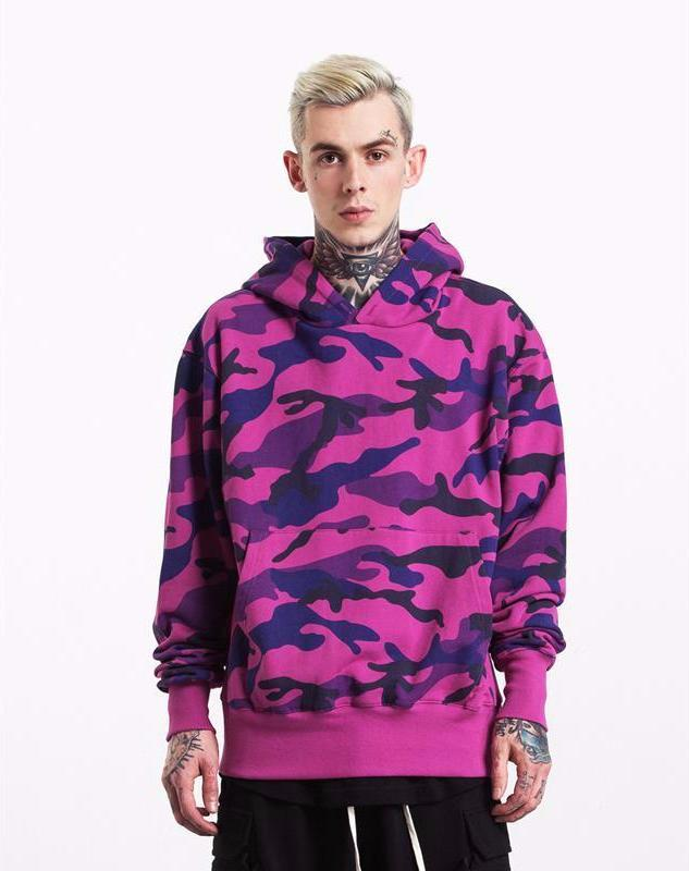 Camouflage Thick Velvet Fabrics Mens Streetwear Hoodies - simplifybox