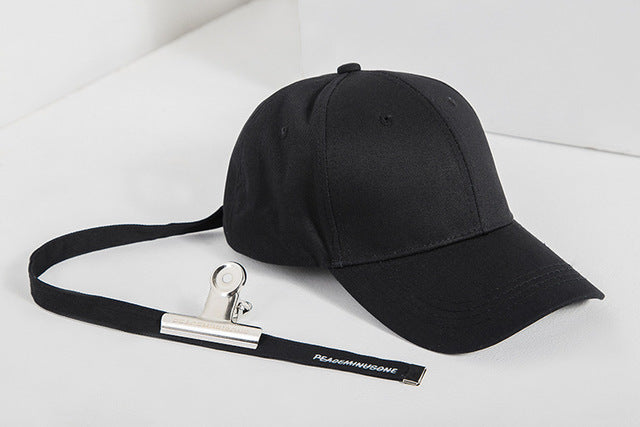 Long Belt Clip Baseball Cap (Black) - simplifybox