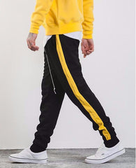 Side Stripe Letter Printing Jogger Elastic Waist SweatPants - simplifybox