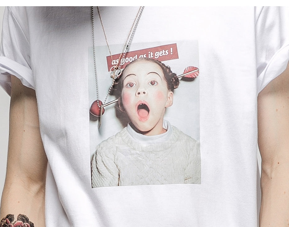 Funny Little Girl Printing  T-shirt