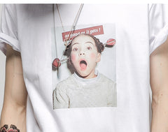 Funny Little Girl Printing  T-shirt - simplifybox