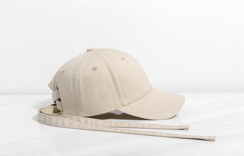 Long Strap Baseball Cap (Khaki) - simplifybox
