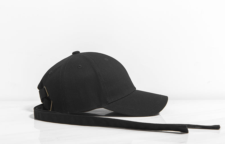 Long Strap Baseball Cap (Black) – SIMPLIFY BOX 452e4c37e7b
