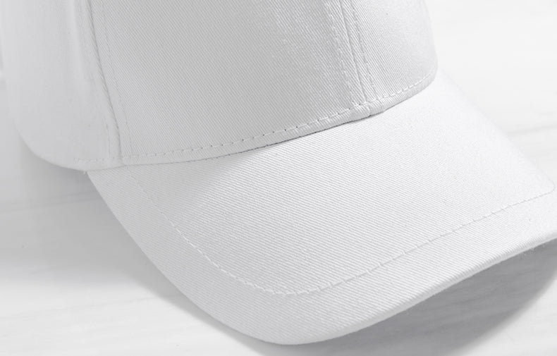 Long Strap Baseball Cap (White) - simplifybox