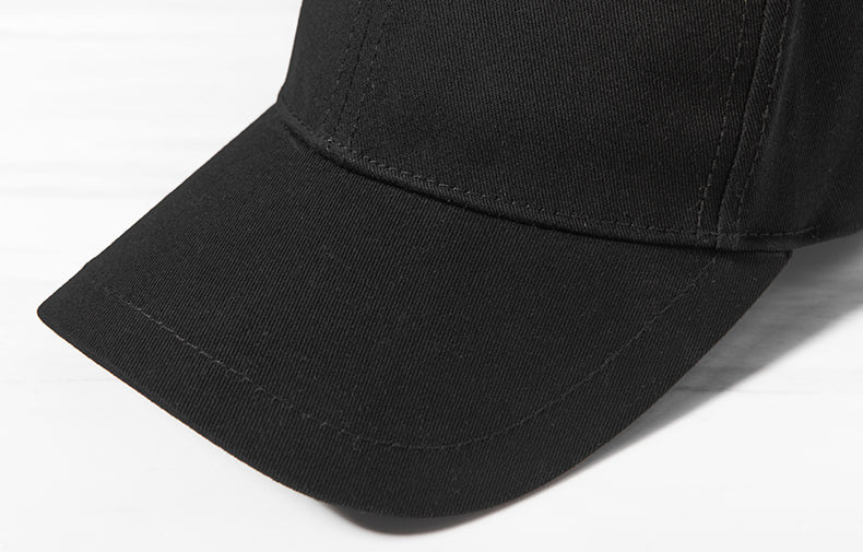 Long Strap Baseball Cap (Black)