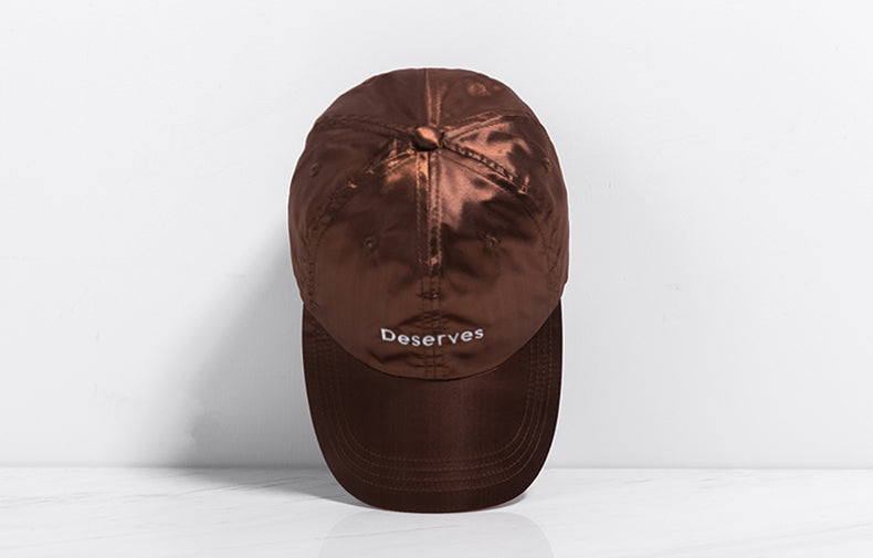 DESERVES Harajuku Baseball Cap (Brown) - simplifybox