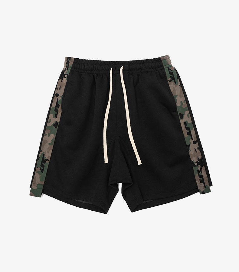 Side Military Elastic Waist Short Pant - simplifybox