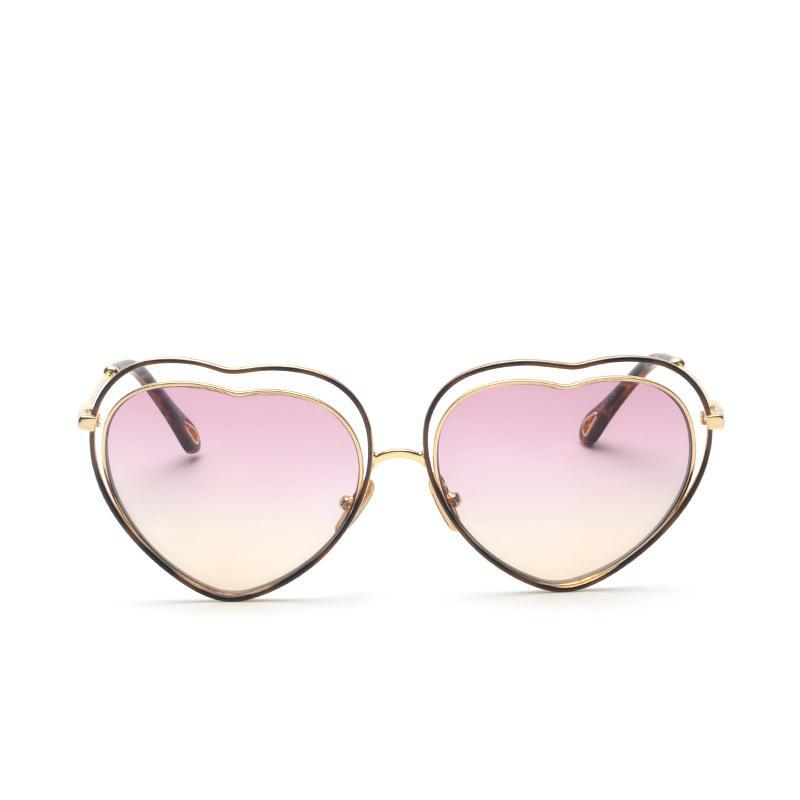 Heart-Shaped Hollow Love Design Fashion Sunglasses - simplifybox