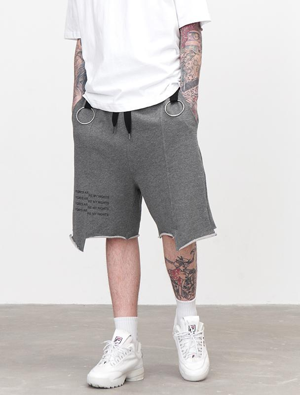 Irregular Cut With Rings Short Pant - simplifybox