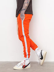 Striped Reflective Joggers Sweatpants - simplifybox