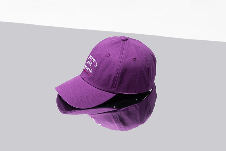 Getting Old Youth Baseball Cap (Purple) - simplifybox