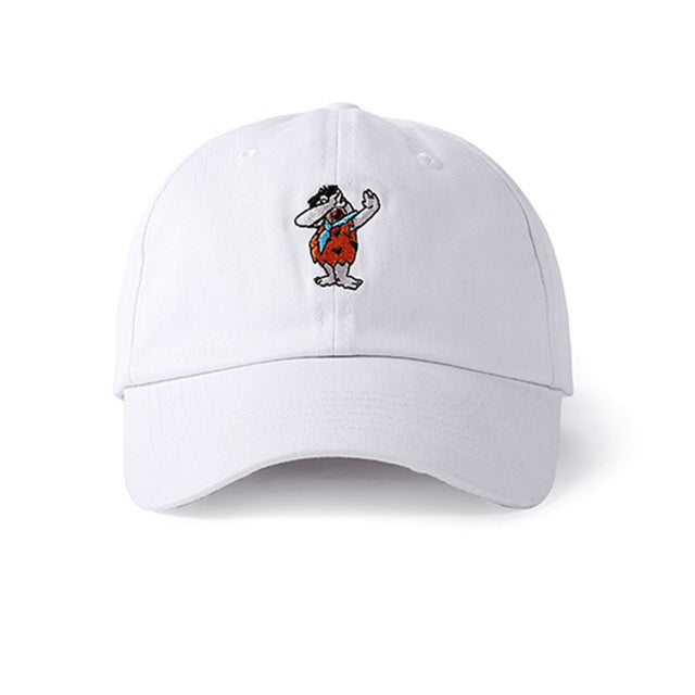 Fred Flintstone Baseball Cap (White) - simplifybox